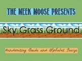 Alphabet Frieze - Sky Grass Ground