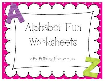 Alphabet Fun Worksheets