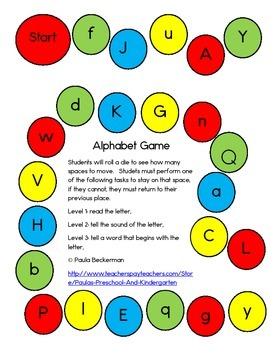 Alphabet Game - Bright Colors