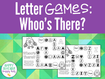 Alphabet Games: Whoo's There?