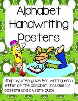 Alphabet Printing Posters (Handwriting Steps)