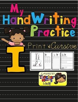 Alphabet Handwriting Practice - Letter Ii