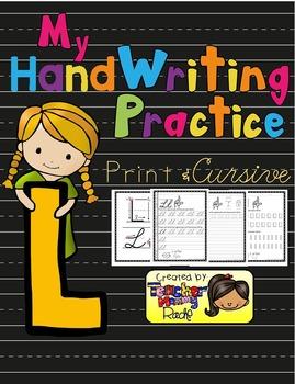 Alphabet Handwriting Practice - Letter Ll