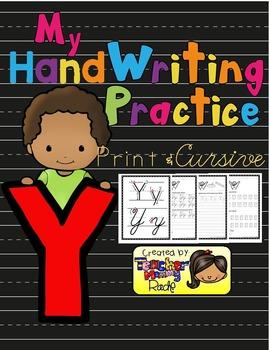 Alphabet Handwriting Practice - Letter Yy