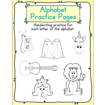 Alphabet Handwriting Practice Pages - ABC... by Pamela Hyer ...