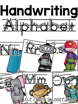 Alphabet . Handwriting Print