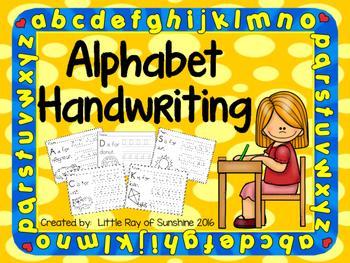 Alphabet Handwriting and Reading