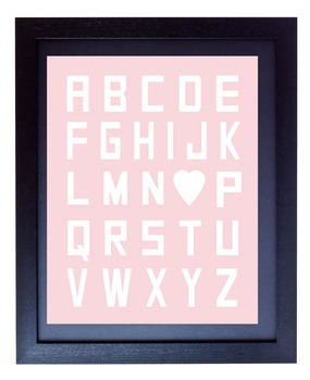 Alphabet Heart Classroom Poster