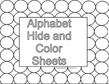 Alphabet Hide and Color Sheet