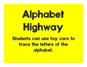 Alphabet Highway Letter Tracing