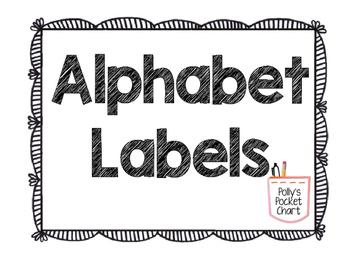 Alphabet Home Reading Labels