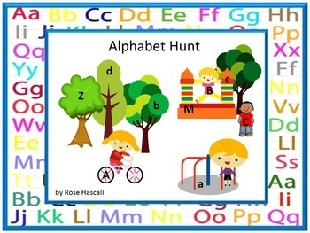 NO PREP Alphabet Hunt Lower Case-Upper Case Letters