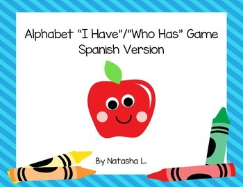 "Alphabet ""I Have/Who Has"" Card Game (Spanish Version)"