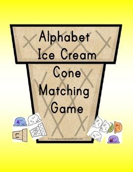 Alphabet Ice Cream Cone Matching Game