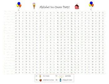 Alphabet Ice Cream Party