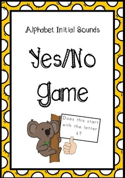 Alphabet Initial Sounds Yes/No Game!