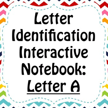 Alphabet Interactive Notebook: Upper and Lower Case Letter