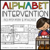 Alphabet Intervention Print & Practice