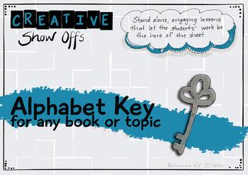 Alphabet Key Reading Response - Any topic, a variety of ap