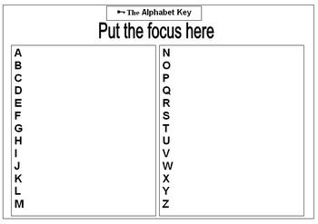 Alphabet Key (Blank Editable Template)