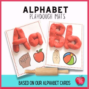 Alphabet Play Dough Cards..( A Great Addition to our Alpha