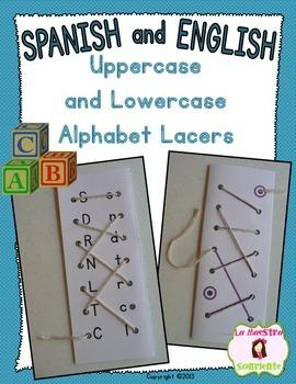 Alphabet Lacers: Uppercase to Lowercase Matching (Spanish