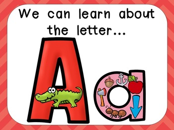 Alphabet Letter Aa PowerPoint Presentation- Letter ID, Sou