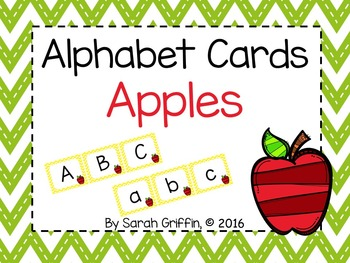 Alphabet Letter Cards ~ Apples