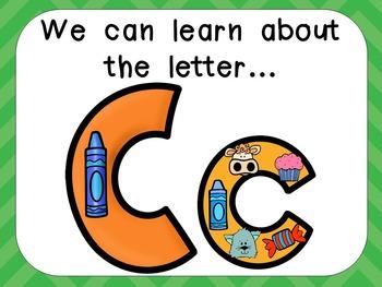 Alphabet Letter Cc PowerPoint Presentation- Letter ID, Sou