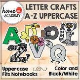 Alphabet Interactive Notebook (UPPERCASE LETTER CRAFTS)