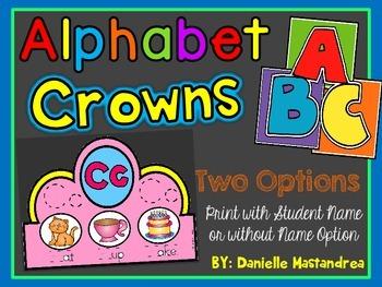 Alphabet Letter Crowns A-Z