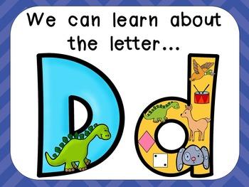 Alphabet Letter Dd PowerPoint Presentation- Letter ID, Sou