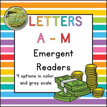 Alphabet Letter Emergent Readers Bundle A to M