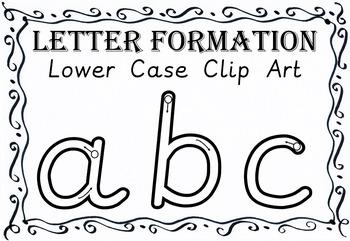 Alphabet Letter Formation Clip Art Lower Case Alphabet