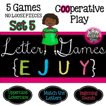 Alphabet Letter Games Word Work SET 5 {5 GAMES}