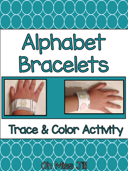 Alphabet Letter Handwriting Bracelets