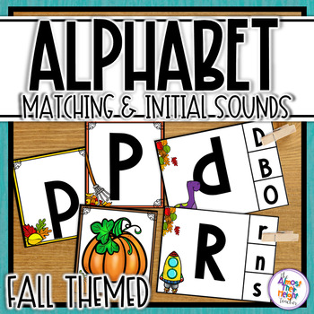 Alphabet Letter & Initial Sound Matching and Clip Activiti