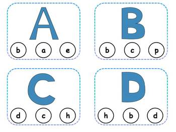 Alphabet Letter Matching Clothespin Task Cards