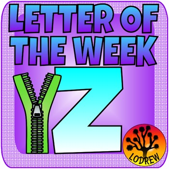 Alphabet Letter Of The Week Letter Z, Literacy Centers, Math
