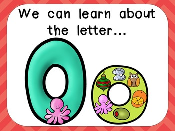 Alphabet Letter Oo PowerPoint Presentation- Letter ID, Sou