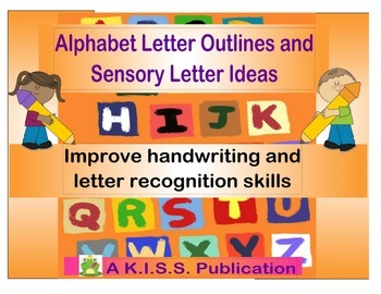 Alphabet Letter Outlines for Handwriting and Sensory Activ