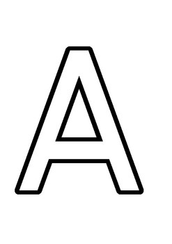 Alphabet Letter Outlines for Playdough and Tracing
