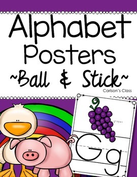 Alphabet Letter Posters -- Ball & Stick