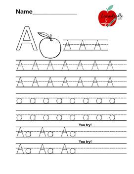 Alphabet Letter Practice Worksheet Pages