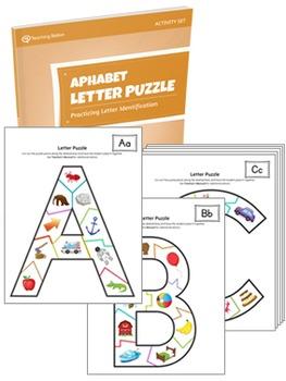 Alphabet Letter Puzzle Activity Set  - PRINTABLE Puzzle