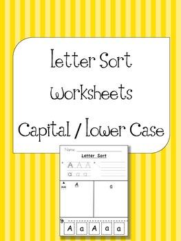 Alphabet Letter Sort - Capital / Lower Case {L.K.1a, L.K.5