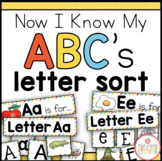 Alphabet Sorting Center {Now I Know My ABC's Series}