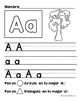 Alphabet Letter Writing Practice in Spanish (Practica de e