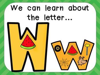 Alphabet Letter Ww PowerPoint Presentation- Letter ID, Sou