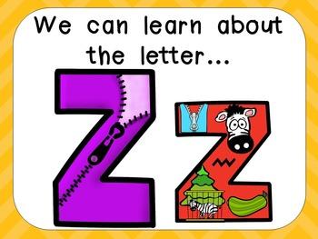 Alphabet Letter Zz PowerPoint Presentation- Letter ID, Sou
